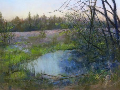 Pastel Painting: Pondering Spring