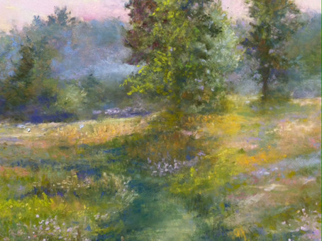 Pastel Painting: Morning Snack at Wooley Park