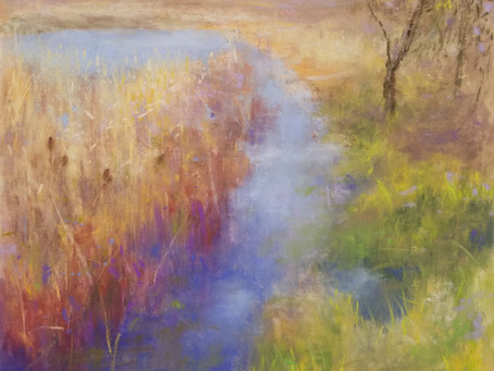 Pastel Painting: Early Spring at Warner Creek
