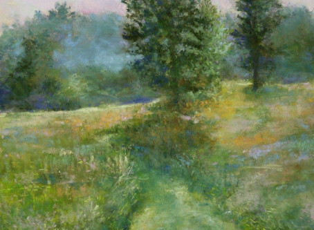 New Pastel Painting - Woolley Park Stroll