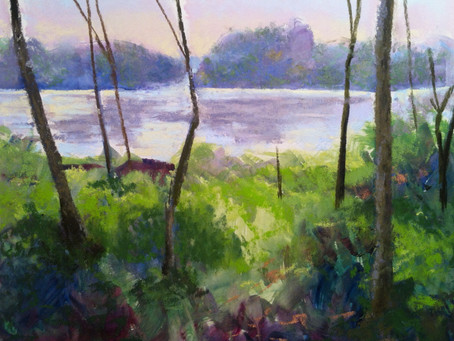 Painting from background forward