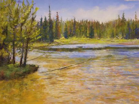 Pastel Painting: Grand Teton Waters