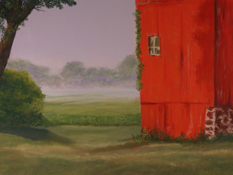 Landscape with Barn: A Complementary Underpainting