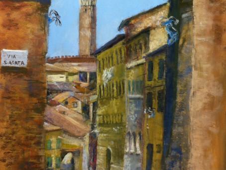 Pastel Painting: Via S. Agata