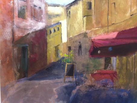 StudioSense: Mangiare a Lucca; Pastel  Street Scene Lesson from Italy