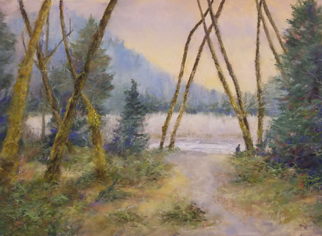 Pastel Painting: Exploring the Hoh Rainforest