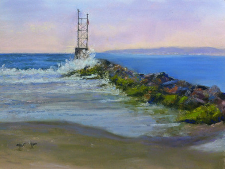 Pastel Paintings: At The Beach