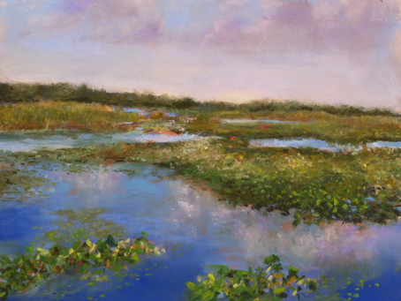 Morning at Point Pelee Marsh - Pastel Painting