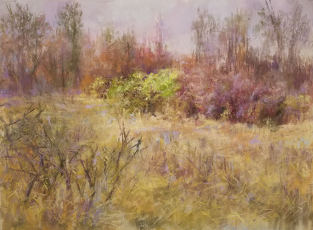 Pastel Painting: Glimpse of Spring at the Buttonwood Marsh
