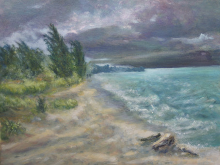 Oil Painting: Point Pelee Storm