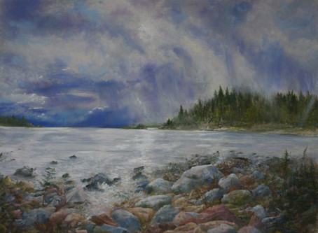 "New Pastel Painting - ""Wind Chill"""