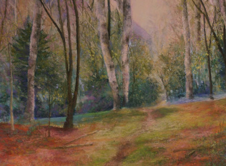 Pastel Painting - Spring Break and the Great Smoky Mountains