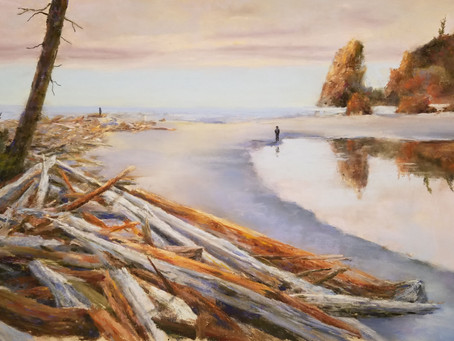 Pastel Painting: Ruby Beach - Olympic Peninsula