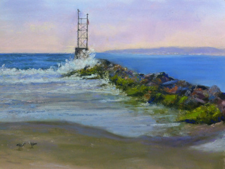 Pastel Painting: Breezy Point Jetty