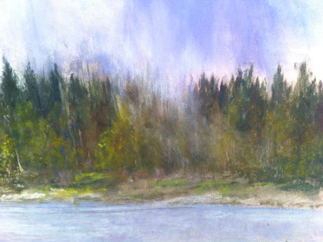"""Pastel Technique: Adding a """"Misty"""" look to the Landscape"""