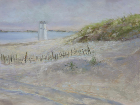 Pastel Painting: Breezy Point Lighthouse