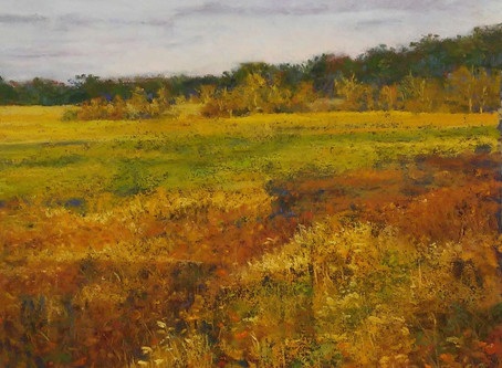 Pastel Painting: Early Sun