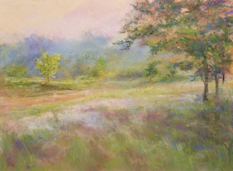 Pastel Painting - Early Summer Morning