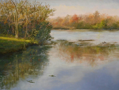 Pastel Painting - Huron River at Gallup Park