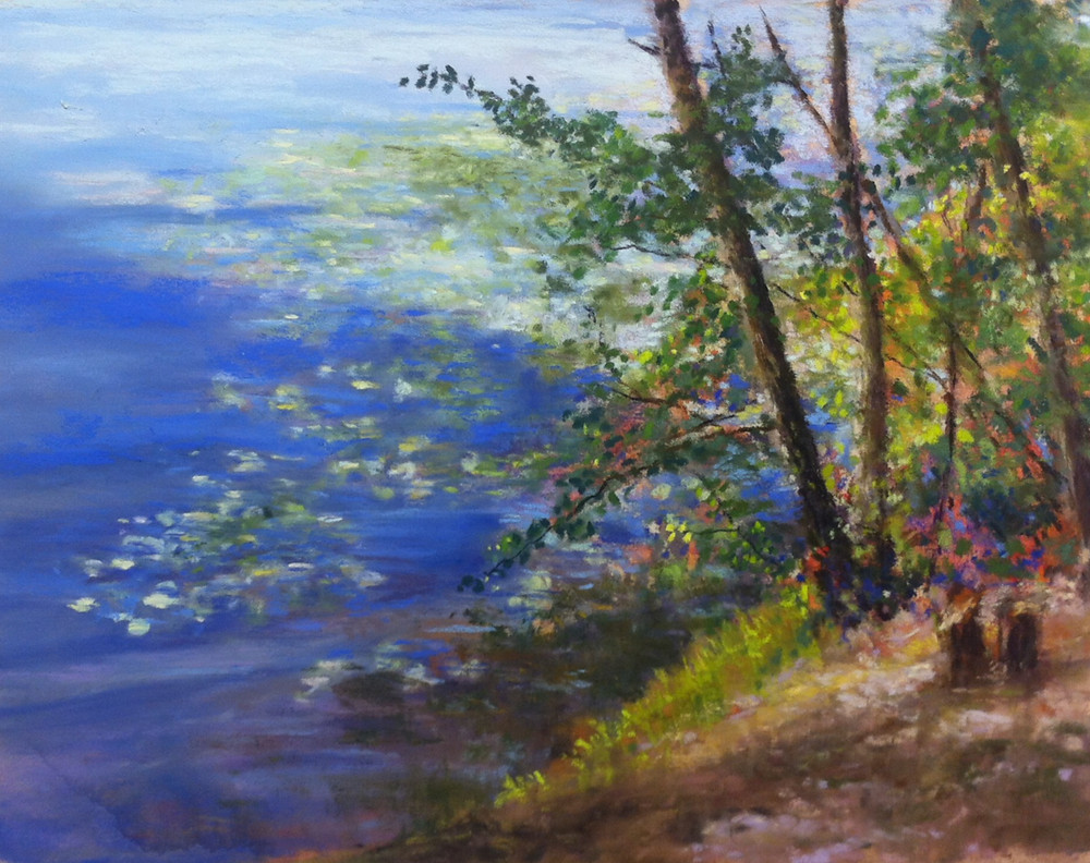 Shimmer on the Huron; 9x12