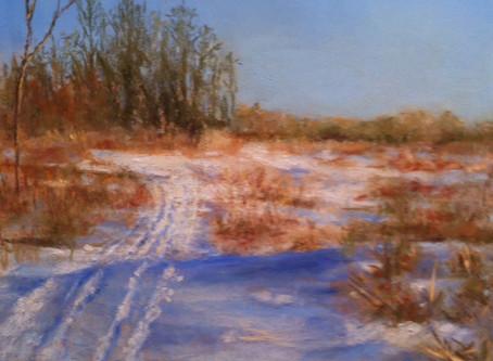 Pastel Painting: Ski Jump