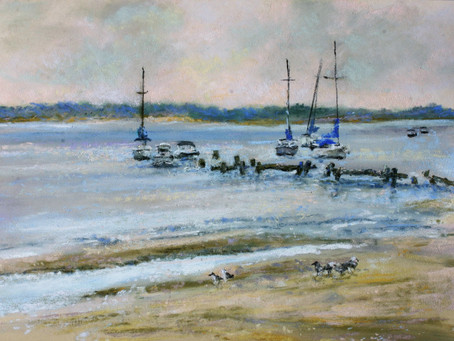 Pastel Painting: Breezy Point Bayside