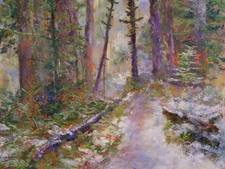 Pastel Painting: Hoh Rainforest