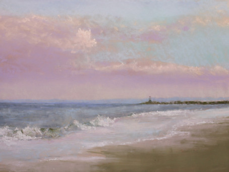 A Long Walk to the Jetty - Pastel Painting