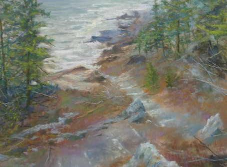 Pastel Painting: Stairway to Thunder Hole