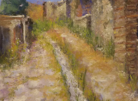 Pastel Painting: Pompeii Afternoon