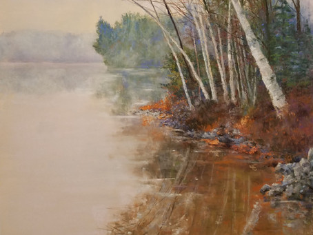 Pastel Painting: Up North on Long Lake
