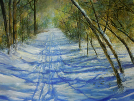 New Painting: Cross-Country Skiing in June