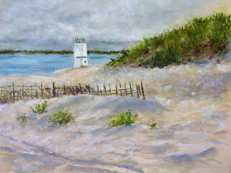 Pastel Painting: On the Bay at Breezy Point