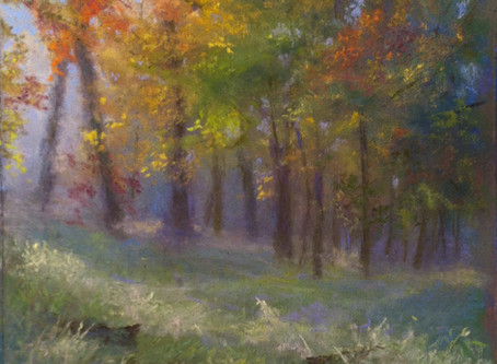 Pastel Painting: Fall Color Hike