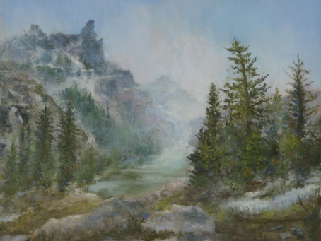 Pastel Painting: Squall in the Tetons
