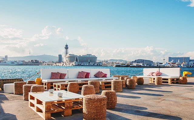 Breathtaking terrace #PortofBarcelon