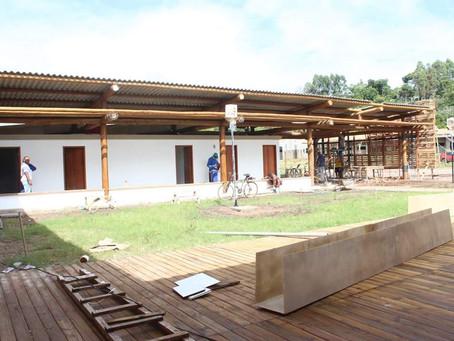 Obras do Centro de Canoagem de Itacaré em fase de conclusão
