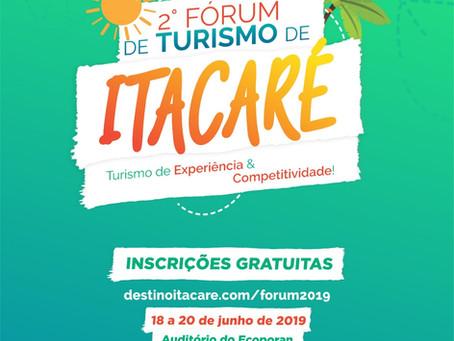 Acompanhe a programação oficial do 2° Fórum de Turismo de Itacaré