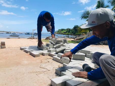 Obras de reurbanização da orla de Itacaré são retomadas