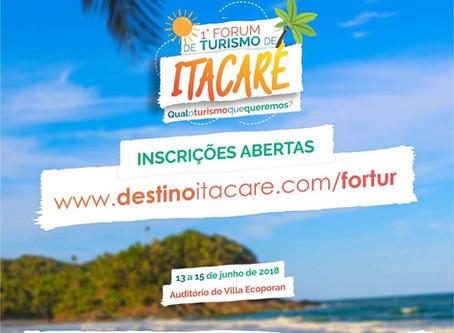 Confira programação oficial do 1º Fórum de Turismo de Itacaré