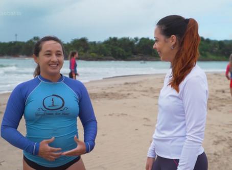 Gshow deu novo destaque a surfista que largou tudo em São Paulo para viver em Itacaré