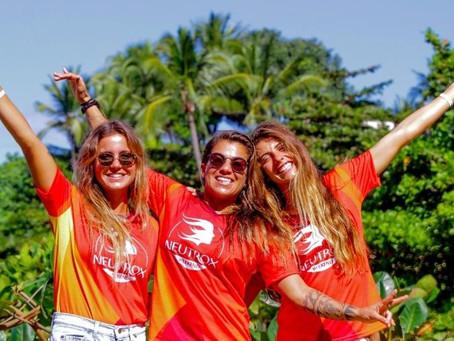Surfistas mulheres celebram igualdade no esporte em etapa de Itacaré