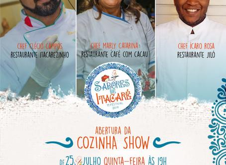Chefs renomados participarão do Festival Gastronômico Sabores de Itacaré