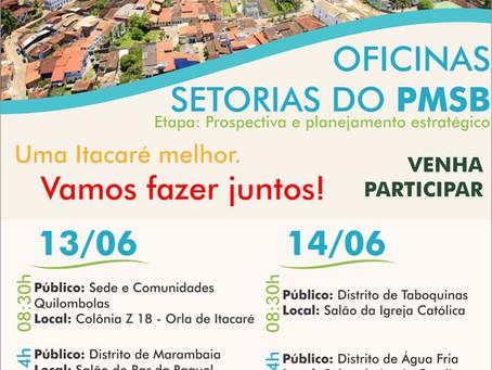 Prefeitura de Itacaré realiza oficinas setoriais do PMSB