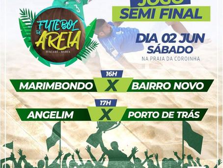 Semifinal do Futebolde Areia de Itacaré será neste sábado