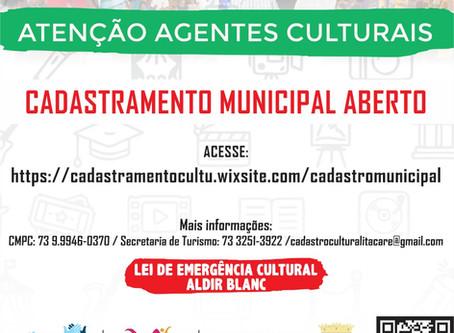 Prefeitura de Itacaré convoca comunidade para o Cadastro de Agentes Culturais