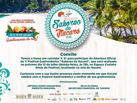 Eventos movimentam o Festival Saboresde Itacaré