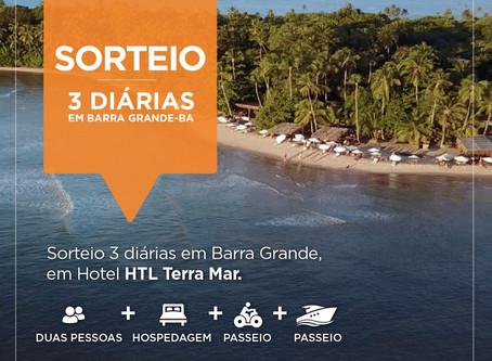 Quer ganhar 3 diárias de hotel em Barra Grande?