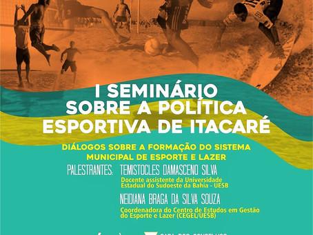 Prefeitura de Itacaré realizará o I Seminário Sobre Política Esportiva