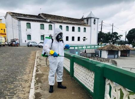 Prefeitura de Itacaré realiza desinfecçãodas ruas contra o coronavírus